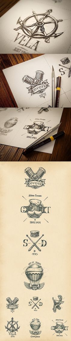 20 handgezeichnete Logo-Ideen | KlonBlog