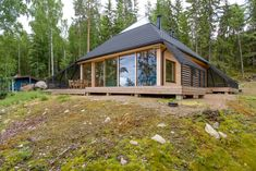 Completed in 2017 in Sysmä, Finland. Images by Timo Laaksonen. A pyramidal roof culminating in a fully glazed nature observatory defines this wooden house built on a square footprint. The owner of a beautiful...