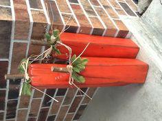 4x4 pumpkins. Too cute.