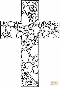 Free Printable Cross Coloring Pages Free printable Sunday