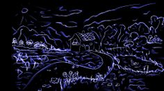 #village #art #silkpaints #drawing #blue #neon #app #creative #amazing #illustration