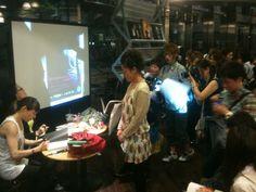 "Talk event of Book ""Tokyo BOIS!"" in Japan's largest book store TSUTAYA TOKYO ROPPONGI. Editor Yuki Keiser & Photographer Tosaki Miwa signing autographs."