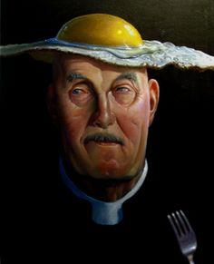 I am The Eggman by Ole Fick  (Danish b. 1948)  Is a Painter / graphic designer