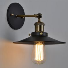 iron wall sconces Picture - More Detailed Picture about Vintage Plated Industrial Wall Lamp Retro Loft LED Wall Light Lamparas De Pared Stair Bathroom Iron Wall Sconce Abajur Luminaria Picture in Wall Lamps from Dear House Lighting Co. Vintage Wall Sconces, Vintage Wall Lights, Rustic Wall Sconces, Bedside Wall Lights, Led Wall Lights, Wall Lamps, Wall Decor, Wall Art, Lampe Edison