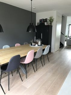 Licht en stoer - Van Wanrooij woning Conference Room, Decor Ideas, Table, House, Furniture, Home Decor, Decoration Home, Room Decor, Meeting Rooms