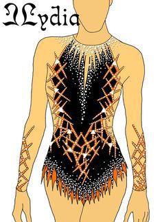 Risultati immagini per rhythmic gymnastics leotards Rhythmic Gymnastics Costumes, Gymnastics Suits, Gymnastics Competition, Acrobatic Gymnastics, Dance Outfits, Dance Dresses, Dance Uniforms, Gym Leotards, Dress Sketches
