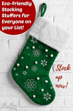 Finding the perfect Christmas gifts for everyone on your list can be tough. These cheap unique eco-friendly stocking stuffer ideas for men, women, and kids are exactly what you have been looking for!
