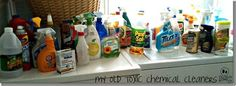 get rid of toxic cleaners