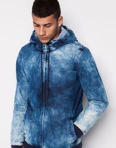 Pull&Bear - hombre - cazadoras y chaquetas - cazadora capucha - azul - 09472504-I2014