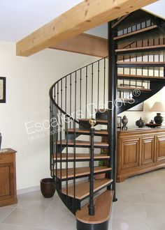 Wrought Iron Stairs, Long House, Park Homes, Staircase Design, Mediterranean Style, Retro, Inspiration, Furniture, Home Decor