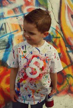 Art Shirt Art Party Paint Splatter Shirt by WillowLaneCostumes