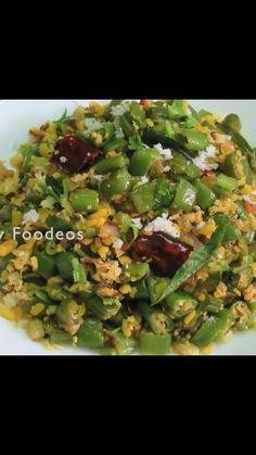 Side Dishes Easy, Vegetable Side Dishes, Vegetable Recipes, Curry Recipes, Diet Recipes, Vegetarian Recipes, Cooking Hacks, Cooking Recipes, Green Bean Recipes