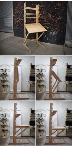 Transforming Drafting Desk   http://dornob.com/transforming-desk-is-four-pieces-of-furniture-in-one/