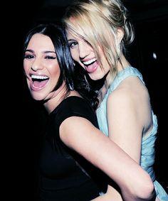 Lea Michele and Dianna Agron as Rachel and Quinn! :)
