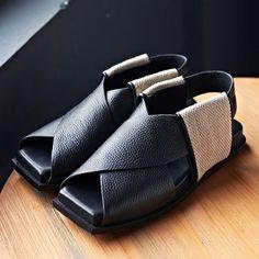 2016 zapatos del verano mujer cuero genuino antideslizantes en Ladies calidad de los zapatos de los zapatos de diseño abierto del dedo del pie Casual mujer sandalias en Sandalias de las mujeres de Zapatos en AliExpress.com | Alibaba Group