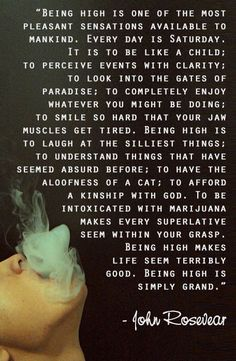 Being high is simply grand - maybe
