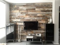 Hereu0027s One Alternative To Boring Drywall: Wood Wall Paneling: Peel And  Stick Reclaimed Wood Strips: Novelty Or Here To Stay?