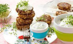 Linsenbratlinge mit Kresse-Tzatziki  | Knorr