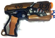 scifi handpainted nerf gun by CalicoPalaceShop on Etsy, $45.00