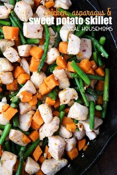 Chicken, Asparagus, and Sweet Potato Skillet