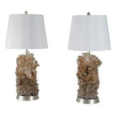 carole stupell rock crystal lamps