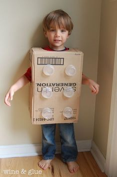 This Easy Lego Halloween Costume for Kids takes about 10 minutes to make, and ends up so cute! It is the perfect cheap Halloween costume idea!