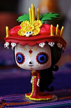 La Muerte by Funko Pop! photo by ghostly cry Halloween Skull, Halloween Horror, Vintage Halloween, Vintage Witch, Halloween Makeup, Halloween Costumes, Funko Pop Dolls, Crazy Toys, Pop Toys