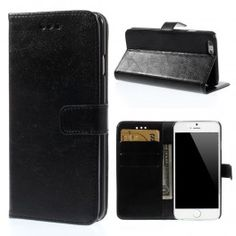 iPhone 6 musta puhelinlompakko Apple Iphone 6, Wallet, Handmade Purses, Purses, Diy Wallet