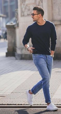 41 Casual Shoes Ideas for Summer Men Style - Men's style, accessories, mens fashion trends 2020 Casual Outfit Men, Casual Winter Outfits, Guys Casual Fashion, Mens Casual Winter Fashion, Men's Casual Shoes, Casual Outfits For Guys, Outfit Ideas For Guys, Mens Jeans Outfit, Men Casual Styles
