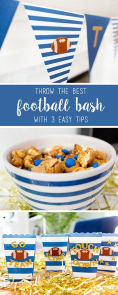 You'll score a touchdown with your football party guests with these 3 easy tips for your game day guests. From decorating ideas to simple and quick snack recipes using M&M'S® Game Day Mix, it's easy to find everything you need to cheer on your favorite team at your local CVS. Plus, you can't beat the festive inspiration.