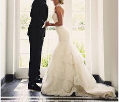 Strapless Lace Wedding Dress CUSTOM