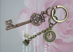 Antique Clock  Filigree Key. Key Lock with by AccessoriesG, $2.80