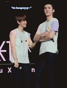 Puppy Baek wants to bite the yummy maknae XD