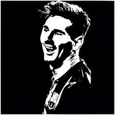 378. Edit: Messi   [barcastuff] Batman Silhouette, Silhouette Art, Soccer Art, Football Art, Black And White Painting, White Art, Messi Logo, Lionel Messi Wallpapers, Lionel Messi Barcelona