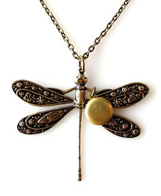 dragonfly necklace, small locket necklace, personalized necklace, vintage locket, dragonfly jewelry bug, initial necklace, insect jewelry