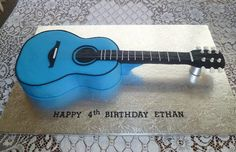 Basic Guitar Lessons for Free Guitar Birthday Cakes, Music Theme Birthday, 4th Birthday Cakes, Happy 4th Birthday, Birthday Ideas, Daddy Birthday, Music Party, 80th Birthday, Birthday Parties