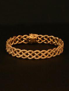 Buccellati 18K Yellow Gold 4 Row Crepe de Chine Bracelet at London Jewelers!