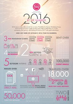 Check out Elysium Marketing Group's 2016 by the numbers! #infographic #marketing #marketingconsulting