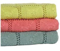 Beautiful crochet blankets for summer
