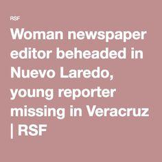 Woman newspaper editor beheaded in Nuevo Laredo, young reporter missing in Veracruz | RSF