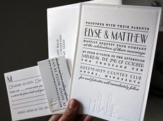 Love these art deco invites. If I could get married (to the same person) again, I'd totally do it up retro. <3