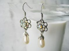 Katherine's Earrings in 1864 bronze or silver by CissyPixie
