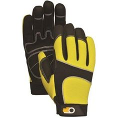 Bellingham Glove C7782HVXL XL Men's Performance Hi Viz Synthetic Palm Gloves, Multicolor