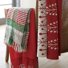 Plaid Cratchit Throw- $59.95| Crate and Barrel