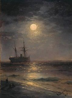 Lunar night - Ivan Aivazovsky - Completion Date: 1899