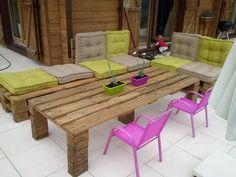 Fabrication d\'un salon de jardin en palettes | 39;?, Un and D