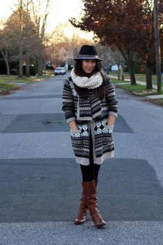 Cozy layered look via @Jill Seiman