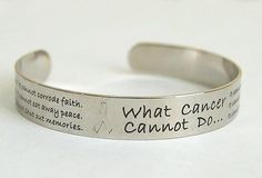 What Cancer Cannot Do Bracelet - Silver Plated