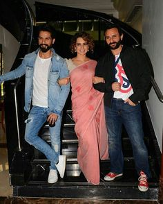 Team Rangoon: Shahid Kapoor Kangana Ranaut & Saif Ali Khan at their best. @filmywave  #Rangoon #ShahidKapoor #KanganaRanaut #SaifAliKhan #VishalBhardwaj #celebrity #bollywood #bollywoodactress #bollywoodactor #actor #actress #star #fashion #glamorous #hot #love #beauty #instalike #instacomment #filmywave