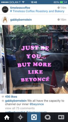Be yourself but more like Beyoncé